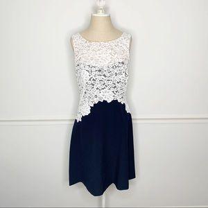 Lauren Ralph Lauren Lace A Line Navy Dress 6